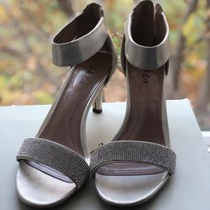 style & co silver and diamond heels